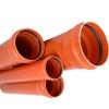 RU-ХК ПВХ Труба канализационная наружн. ML 110x3,2х1000 (рыжая)